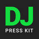 GrooveLine - DJ Press Kit / DJ Resume / DJ Rider PSD Template - GraphicRiver Item for Sale