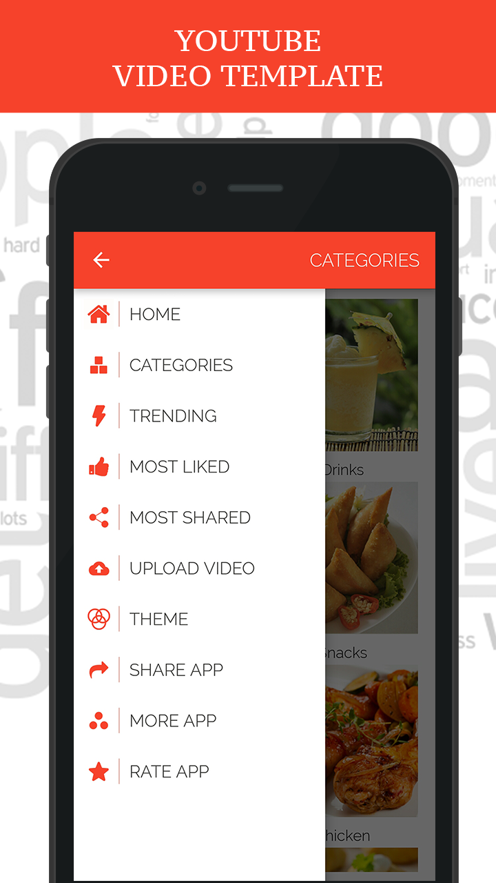 Multi-Purpose YouTube Video Template for Android with PHP CMS Admin ...