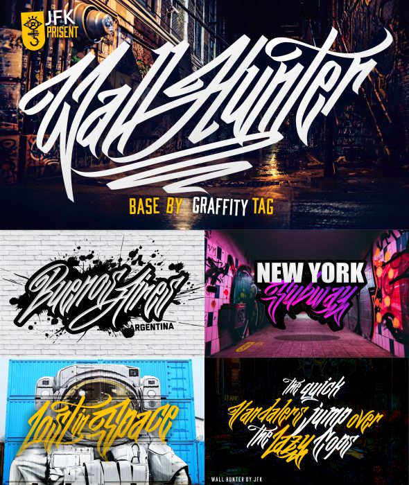 Wall Hunters - Graffiti Fonts