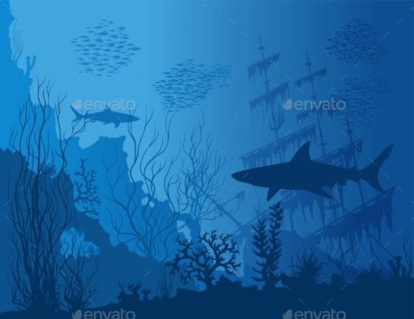Blue Underwater Landscape - Landscapes Nature