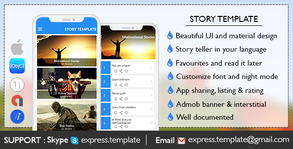 Story Template for iOS - CodeCanyon Item for Sale