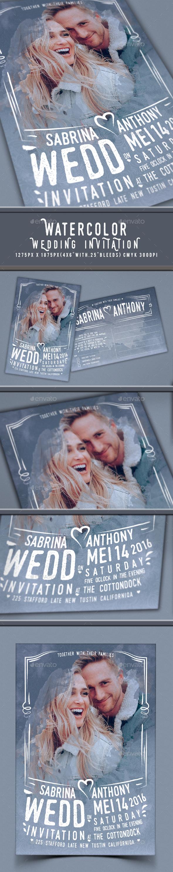 Watercolor Wedding Invitation - Invitations Cards & Invites