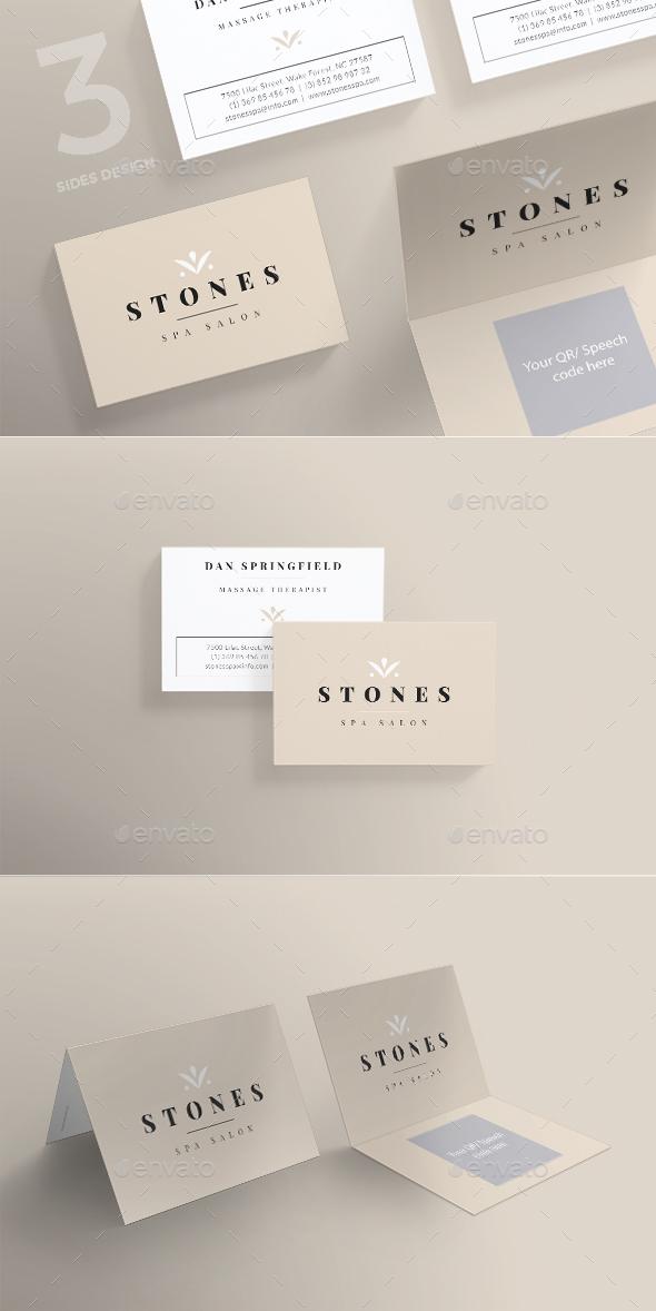 Spa Salon Business Card - Corporate Business Cards