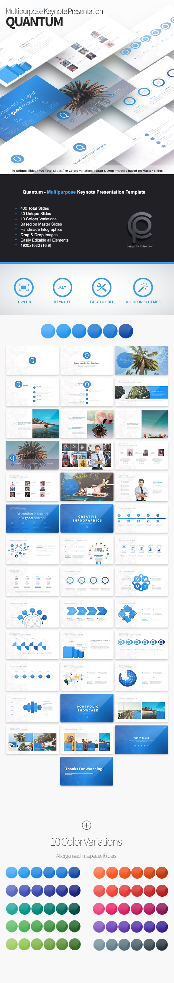 Quantum - Multipurpose Keynote Presentation - Business Keynote Templates