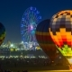 Hot Air Balloons at Night on Balloon Festival. Astana, Kazakhstan - March 2018 - VideoHive Item for Sale