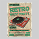 Retro Music Party Flyer Template - GraphicRiver Item for Sale