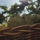 Wicker Basket with Grapes on Table at Vinery Yard - VideoHive Item for Sale