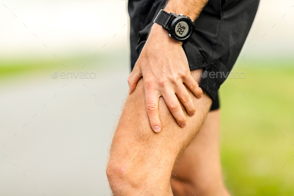Physical injury, runner muscle pain - Stock Photo - Images