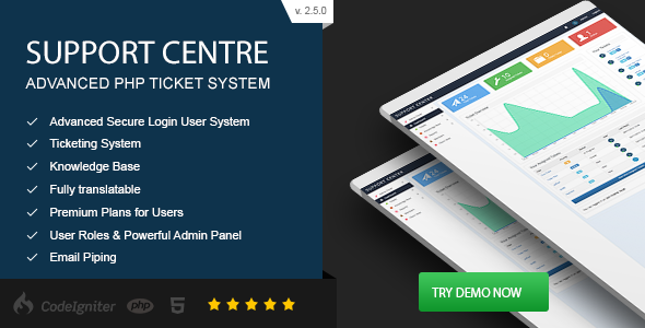 Support Centre - Advanced PHP Ticket System - CodeCanyon Item for Sale