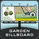 Garden Landscape Billboard Template