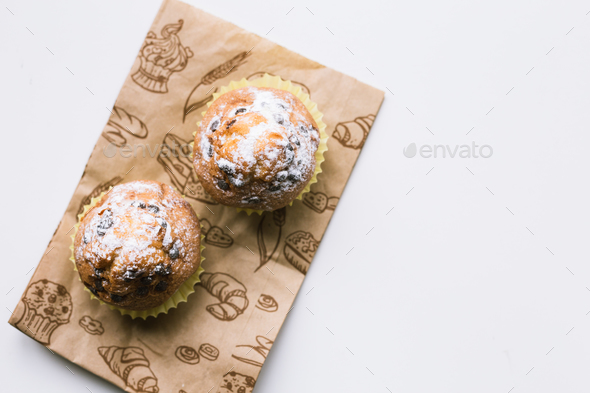Homemade chocolate chip muffins - Stock Photo - Images