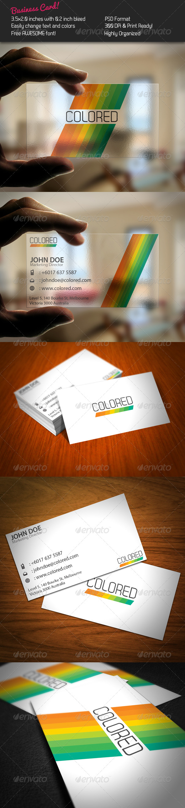 Stripe Business Card - Corporate Business Cards