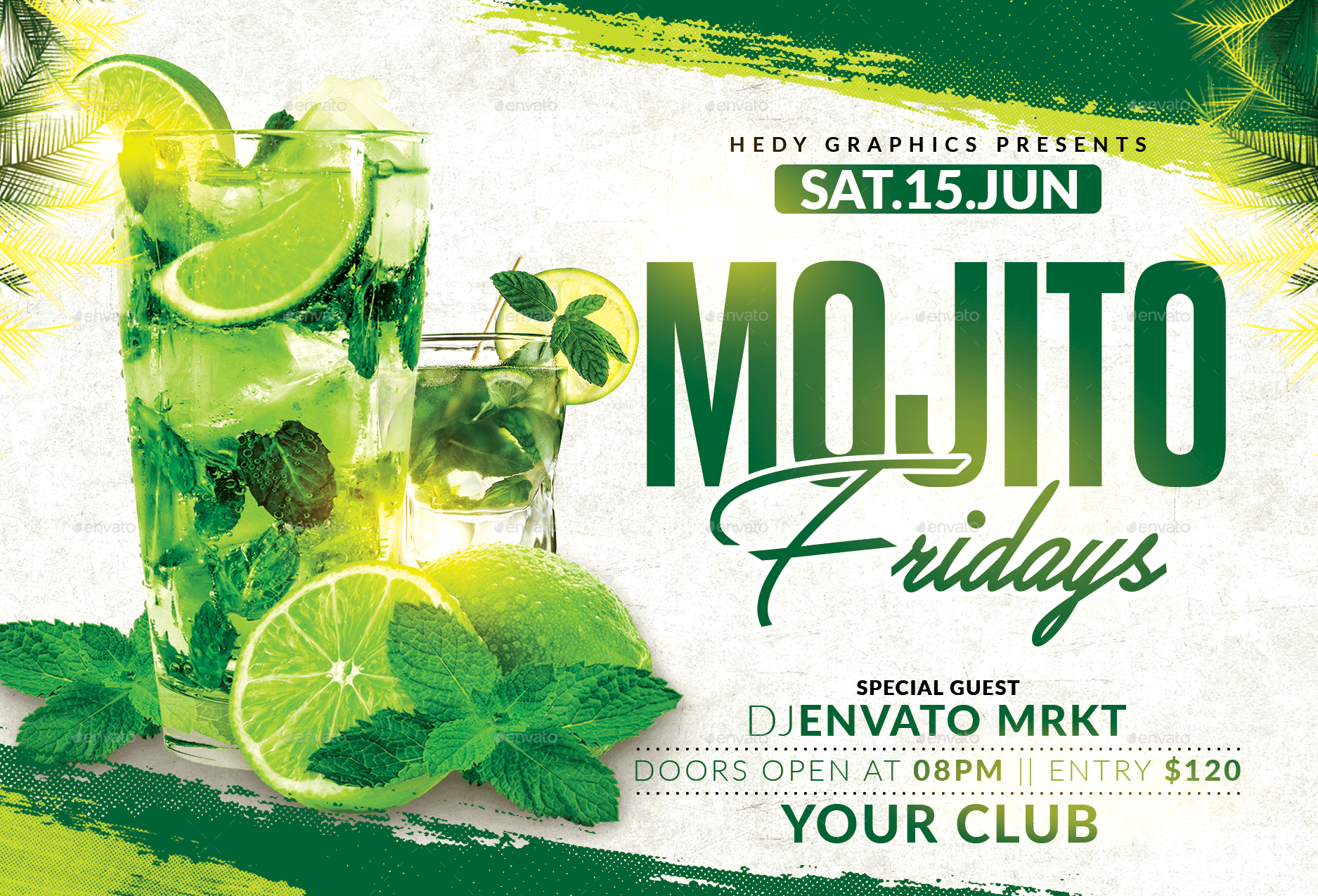 Mojito Fridays Flyer By Hedygraphics Graphicriver