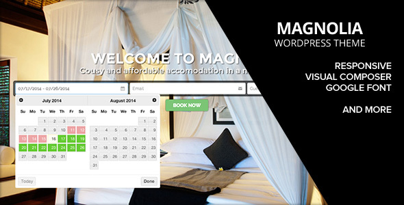 HOTEL MAGNOLIA WordPress Theme - Travel Retail