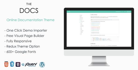 TheDocs - Online Documentation WordPress Theme - Software Technology