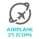 Airplane & Airport Mini Icon - GraphicRiver Item for Sale