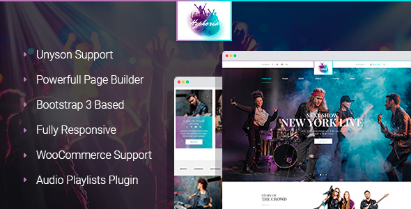 Hyphoria - Rock Band WordPress Theme - Music and Bands Entertainment