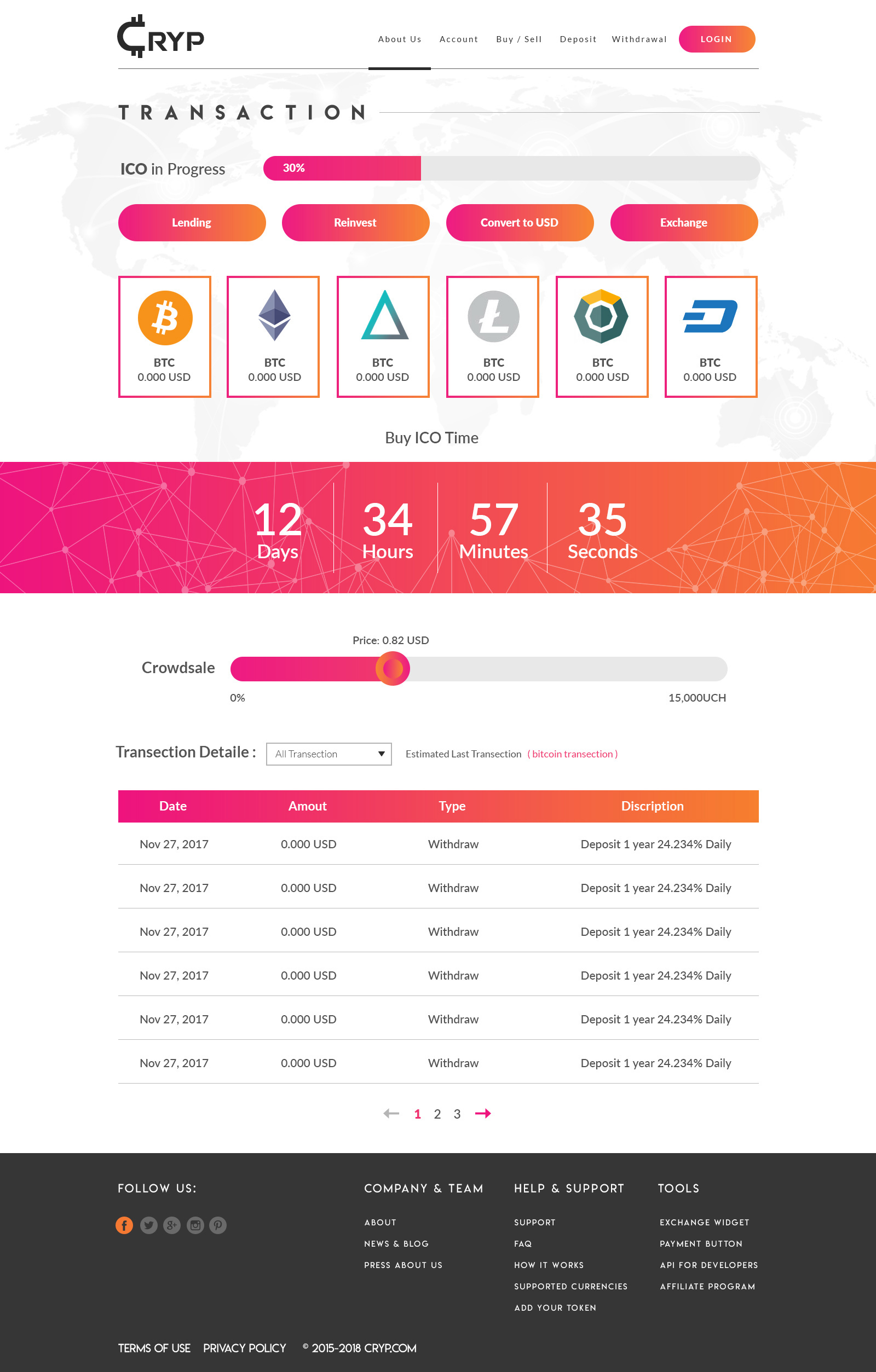 Cryptocurrency Trading PSD Web Template by manthan_mehta60   ThemeForest