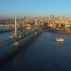 Aerial Drone View of Istanbul, Turkie at Bosphorus Halic Bay - VideoHive Item for Sale
