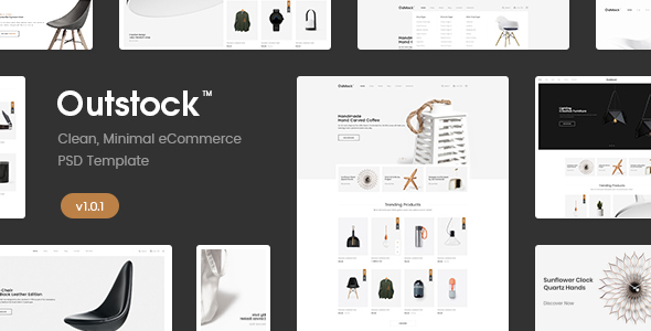Outstock – Clean, Minimal eCommerce PSD Template
