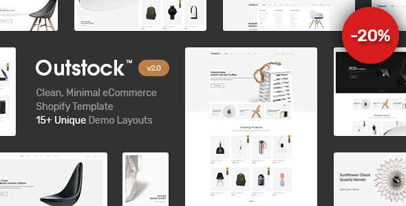 Image of Shopify  - Outstock  Clean, Minimal , Drag & Drop