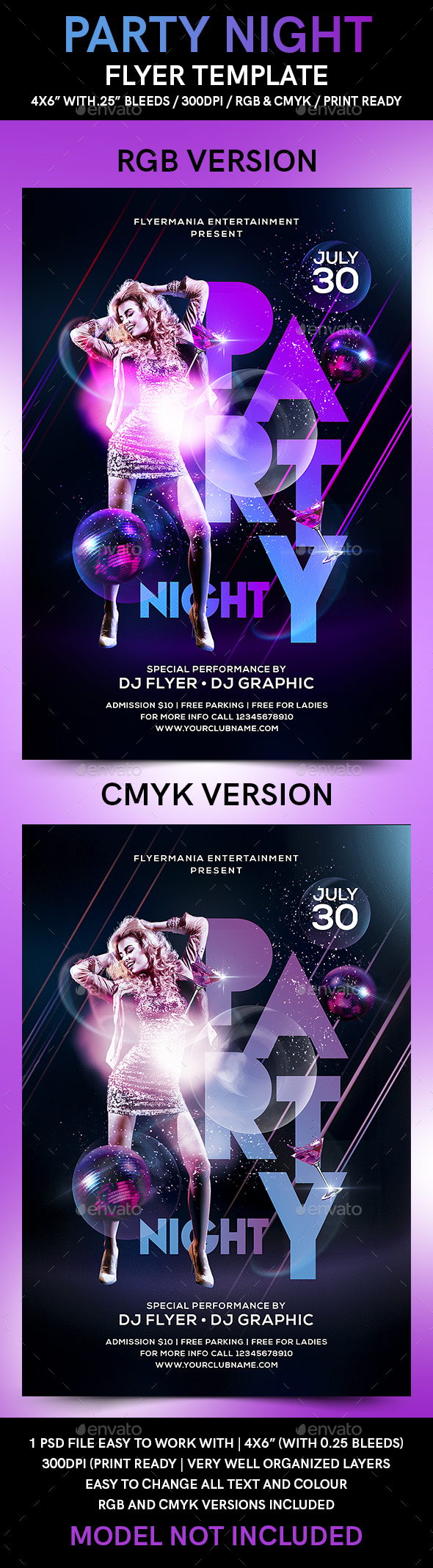 Party Night Flyer Template - Clubs & Parties Events