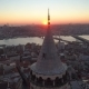Galata Tower in Istanbul, Turkie at Sunset - VideoHive Item for Sale