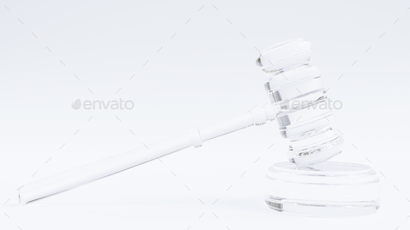 Glass Transparent Gavel - Stock Photo - Images