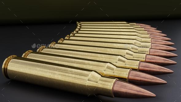 556mm Ammunition Background - Stock Photo - Images