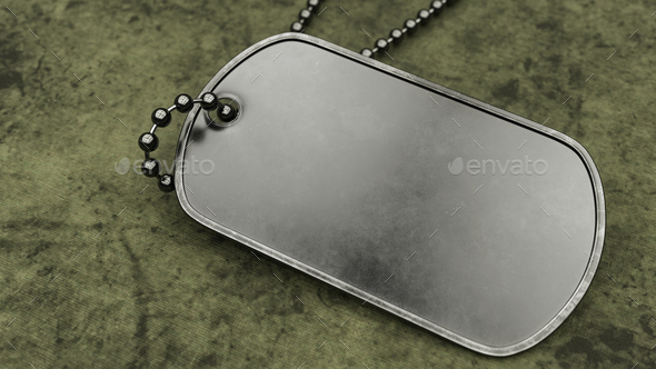 Blank Military Dogtag - Stock Photo - Images