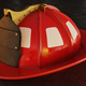 Blank Firefighter Helmet on asphalt - PhotoDune Item for Sale