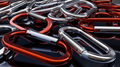 Red and Silver Carabiners - PhotoDune Item for Sale