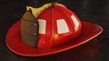 Blank Firefighter Helmet on asphalt - PhotoDune Item for Sale