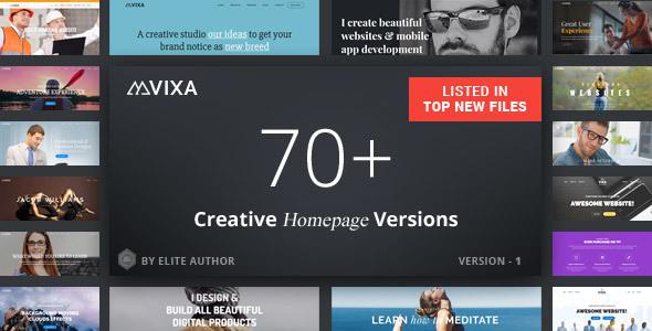 Image of Vixa - Responsive Multi-Purpose Drag And Drop Joomla Theme
