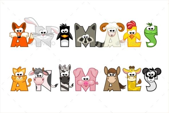 Cartoon Word Animals - Animals Characters