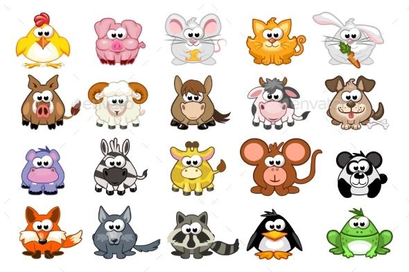Cartoon Triangular Animals - Animals Characters