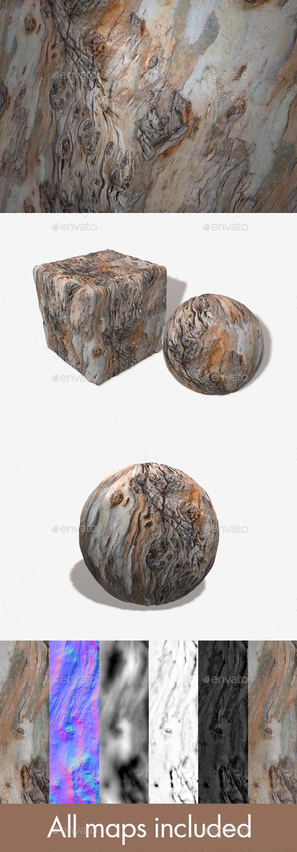 Wavy Bark 2 Seamless Texture - 3DOcean Item for Sale