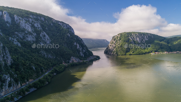 Danube Gorges. Cazanele Mari, Romania - Stock Photo - Images