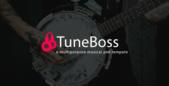TuneBoss - Music & Portfolio PSD Template - Entertainment PSD Templates