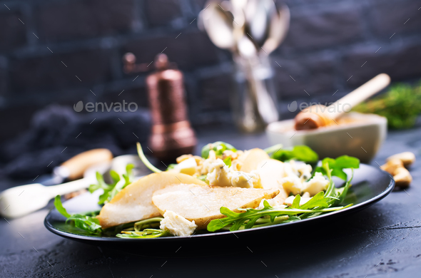 pear with cheese - Stock Photo - Images