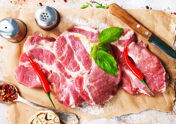raw meat - Stock Photo - Images