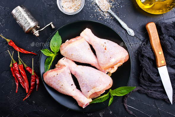 chicken legs - Stock Photo - Images