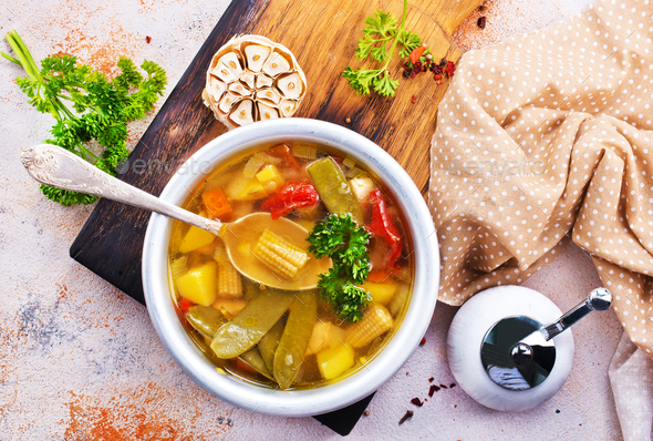 vegetable soup - Stock Photo - Images
