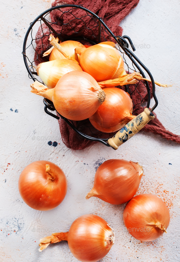 raw onion - Stock Photo - Images
