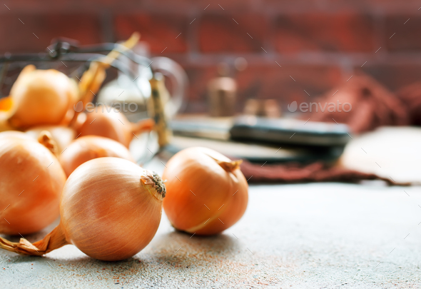 raw onion - Stock Photo - Images