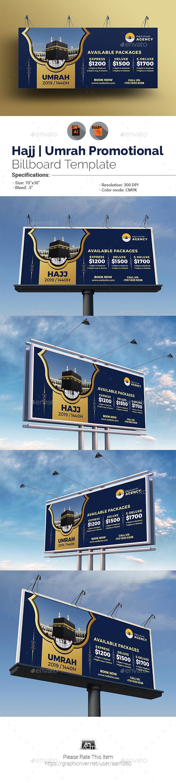 Umrah/Hajj Billboard Template - Signage Print Templates