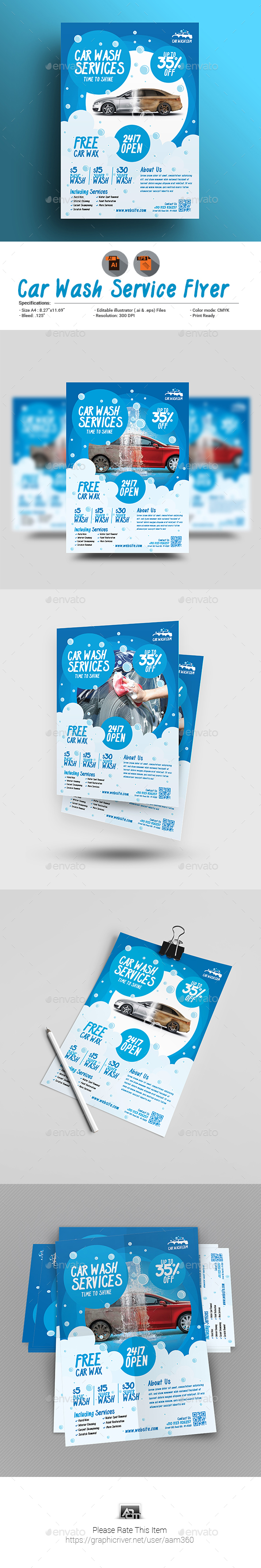 Car Wash Flyer V3 - Corporate Flyers