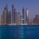 Dusk To Night Transition of Dubai Marina Cityscape, View From Palm Jumeirah, United Arab Emirates - VideoHive Item for Sale