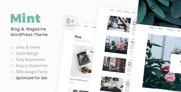 Mint - A Beautiful WordPress Blog Theme - Blog / Magazine WordPress