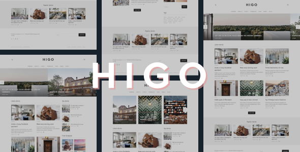 Higo - A Responsive WordPress Blog Theme - Personal Blog / Magazine